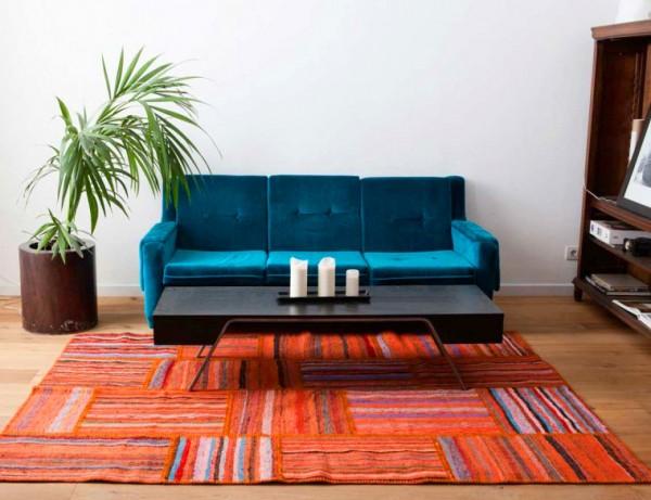 alfombras azules de la sala Suma Color Y Vitalidad A Tu Hogar Con Alfombras Coloridas