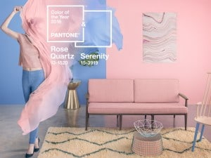 Colores Pantone 2016, Rose Quartz y Serenity
