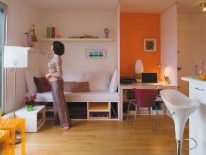 Cómo pintar un monoambiente, colores e ideas