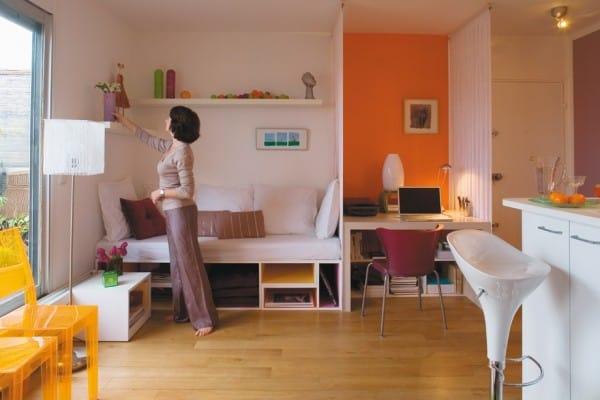 C mo pintar un monoambiente colores e ideas for Decoracion depto chico