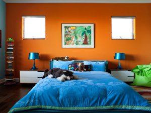 Contraste naranja azul