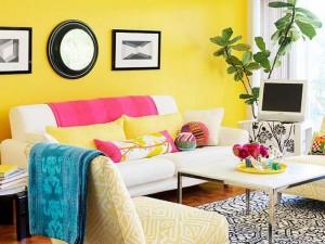 Combinaciones de colores alegres para pintar una habitación