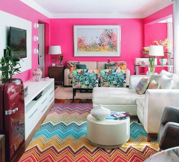 Combinaciones de colores alegres para pintar una habitaci n - Cocinas rosa fucsia ...
