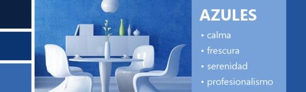 Psicología de los colores azules