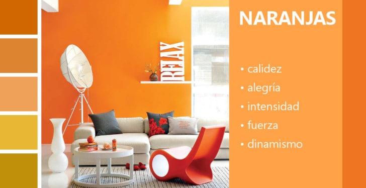 Psicología de los colores naranjas