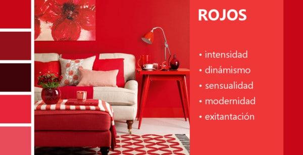 Psicología de los colores rojos