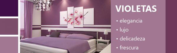 Psicología de los colores violetas