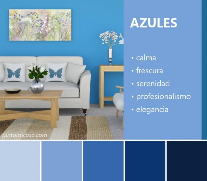 Características de los colores azules