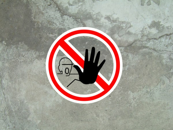 Prohibida humedad