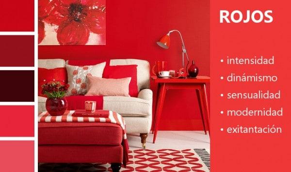 Sensaciones del color rojo