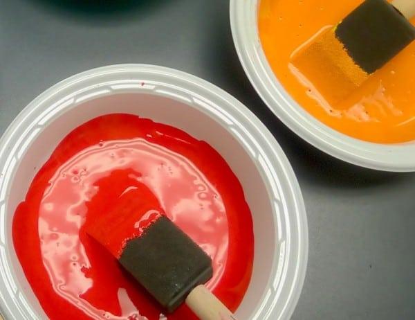 Pintura color rojo