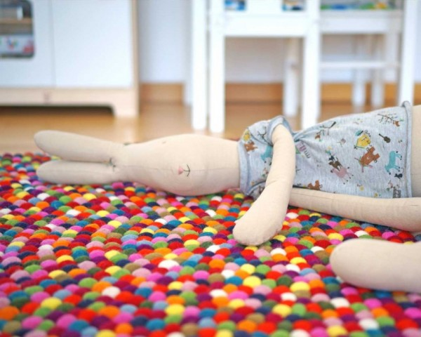 cuarto infantil alfombra
