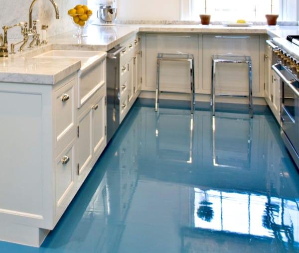 Epoxi azul cocina