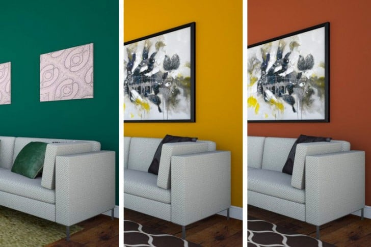 12 colores recomendados para destacar una pared for Combinacion de colores en paredes