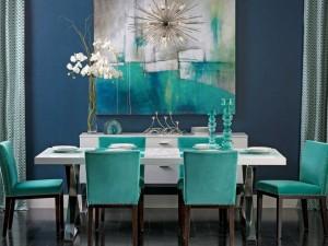 Cómo combinar el turquesa en la decoración interior