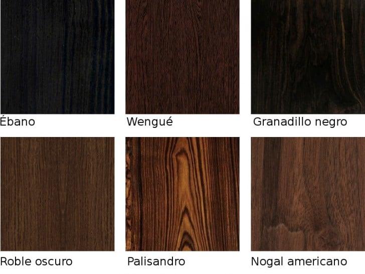 Colores de maderas oscuras