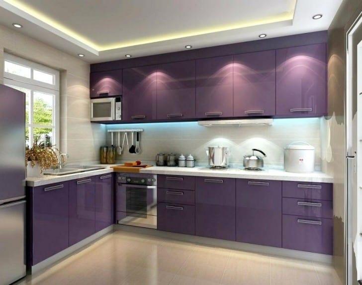 Muebles de cocina violeta