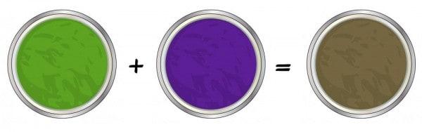verde y violeta
