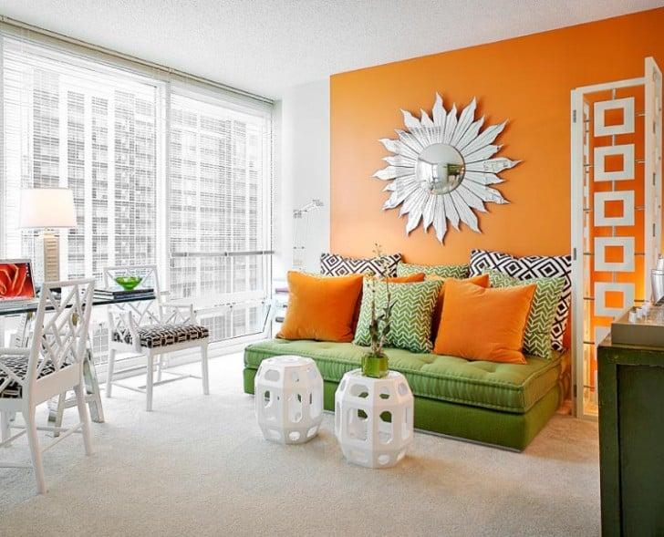 Departamento naranja y verde