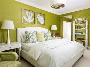 Colores que combinan con verde en paredes y decoración
