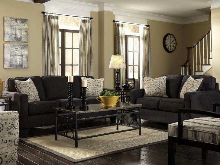 Muebles marrones de que color pinto las paredes - Muebles grises paredes color ...