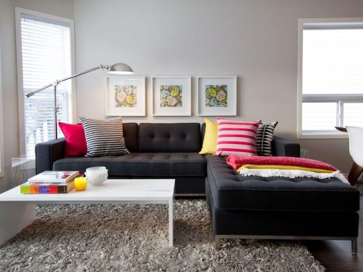 Como Combinar Tu Sofa Negro Pintomicasacom - Salones-con-sofa-negro