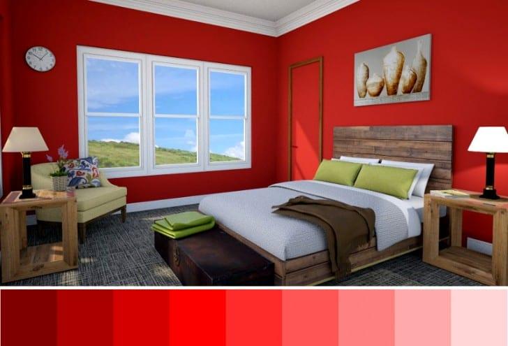 Variantes De Color Rojo Para Paredes En Interiores Pintomicasacom