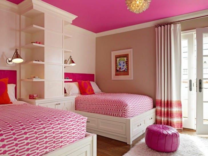 Cielo raso rosa