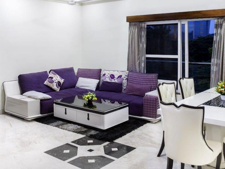 Sofás violeta púrpura