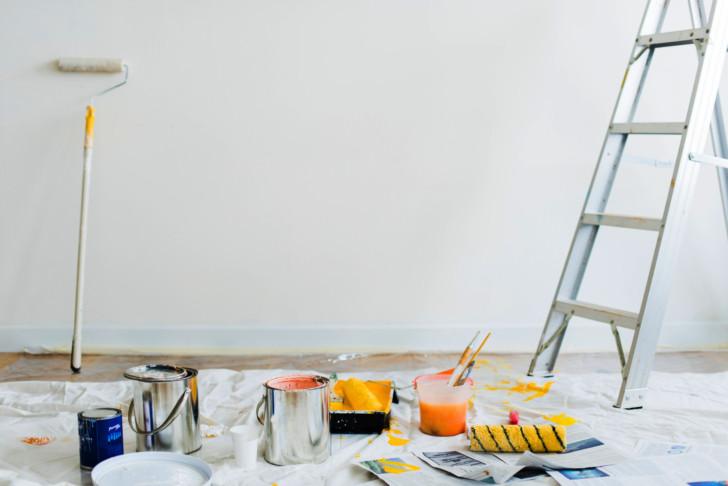 Preparando pared para pintar