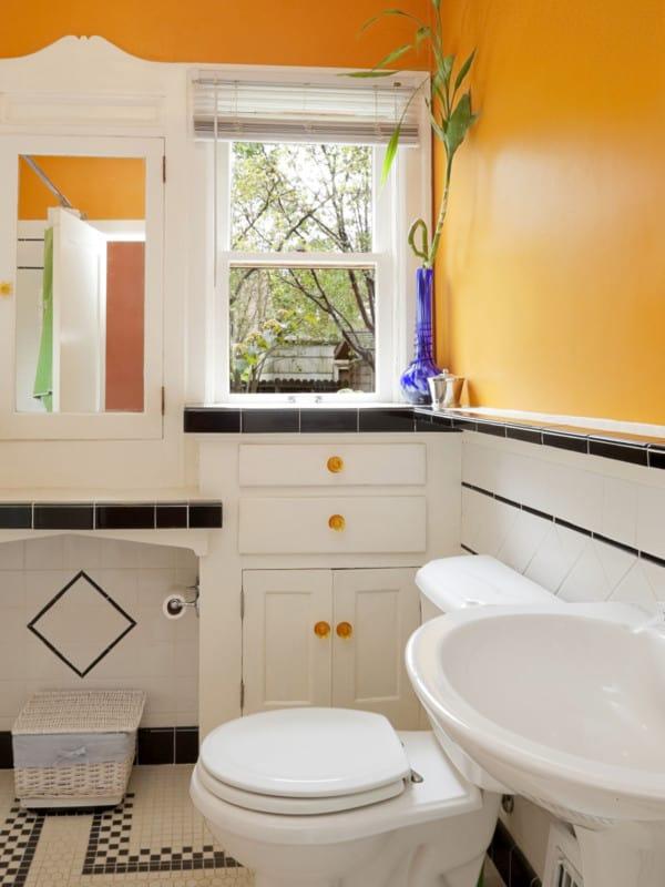 Baño naranja
