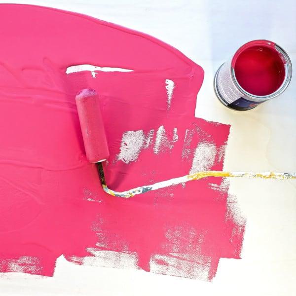 Pintura rosa fuerte