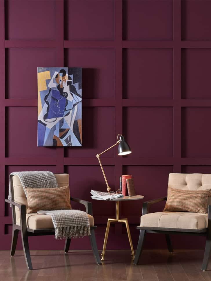 Pintura vino violeta de SW