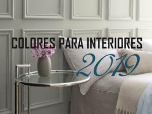 Colores de moda para interiores 2019