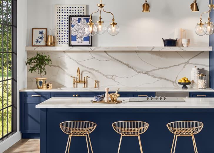 Cocina azul naval
