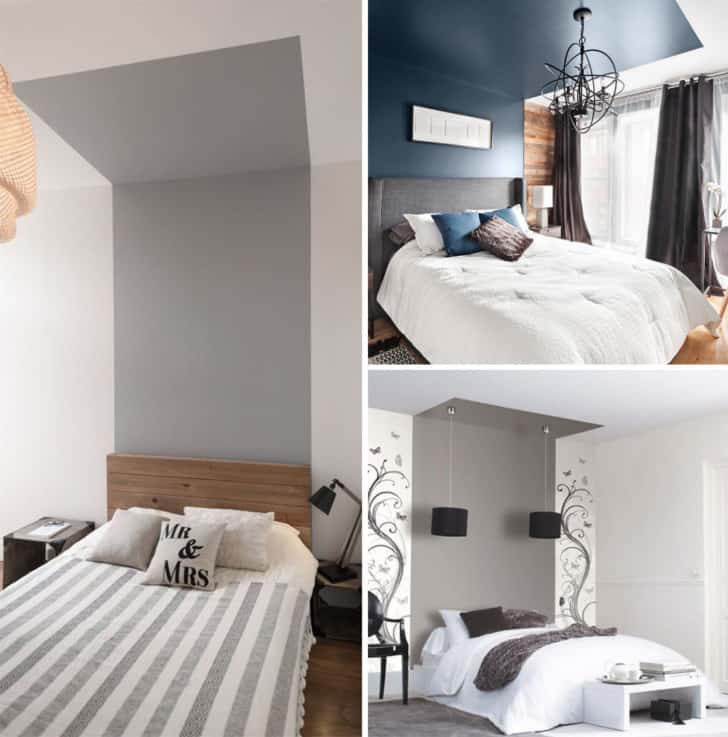 Headboard with surround effect
