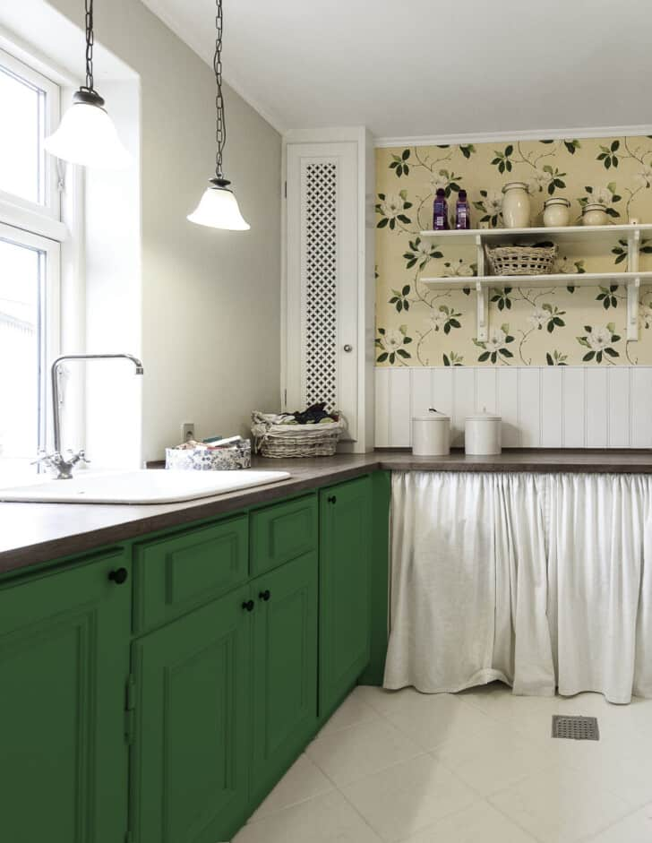 Pintar mueble de cocina verde